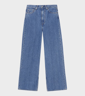 Ganni - High-waist Wide Jeans Medium Indigo