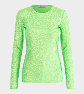 Saya Blouse Fluo Green Shimmer