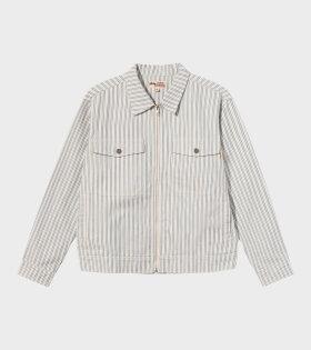 Stripe Garage Jacket Blue/Off-white