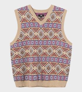 Giza Sweater Vest Beige