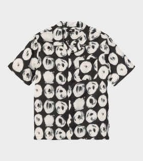 Hand Drawn Dot Shirt Black/White