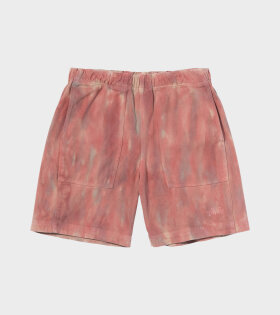 Dyed Easy Shorts Red