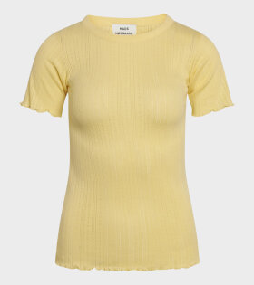 Mads Nørgaard  - Trixa T-shirt Pale Banana