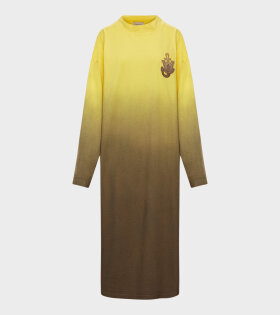 Moncler X JW Anderson - Abito Longsleeve Dress Yellow