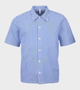 Space Shirt SS Striped Blue/White