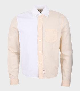 Contrast Shirt Light Beige/White