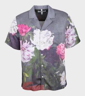 Soulland - Orson Shirt Green AOP
