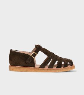 Angulus Closed Toe Sandals Dark Olive