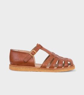 Closed Toe Sandals Brown