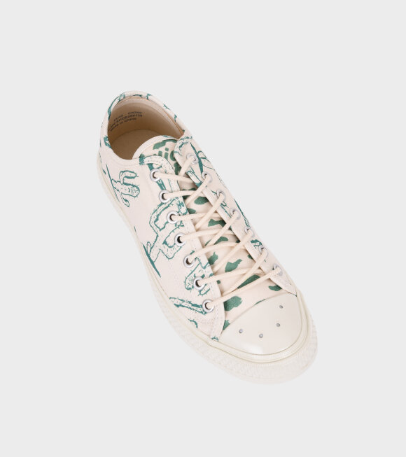 Acne Studios - Canvas Sneakers Off White/Cactus