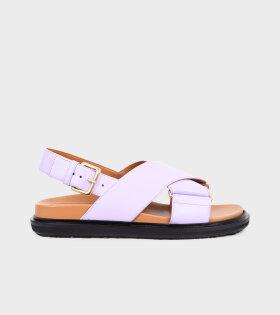 Fussbett Sandal Purple/Tan