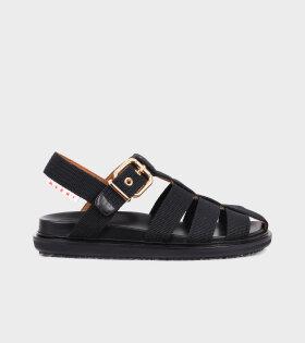 Fussbett Sandal Fabric Black