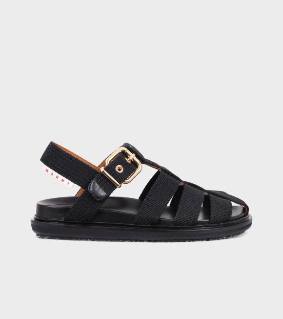 Marni - Fussbett Sandal Fabric Black