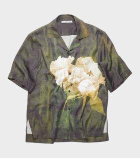 Floral Shirt Dark Green