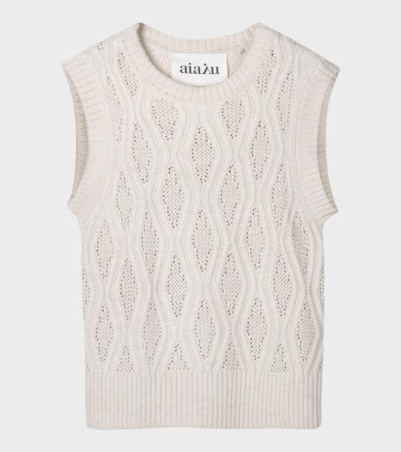 Aiayu - Gatien Knit Vest Light Beige/Cream