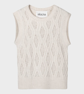 Gatien Knit Vest Light Beige/Cream
