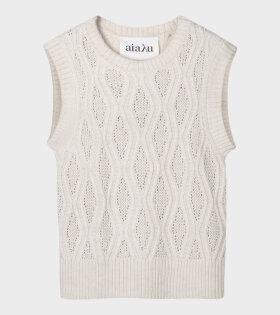 Gatien Knit Vest Light Beige/Cream