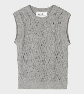 Gatien Knit Vest Grey