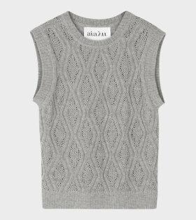 Gatien Knit Vest Grey