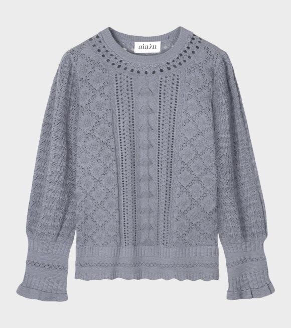 Aiayu - Bellerose Knit Blouse Blue