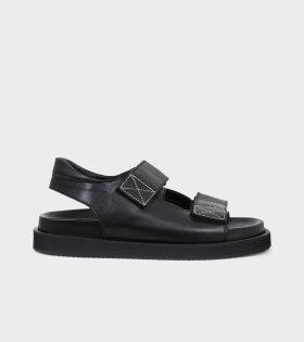 Velcro Sandals All Black