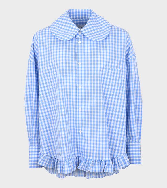 Comme des Garcons Girl - Oversized Check Shirt Blue