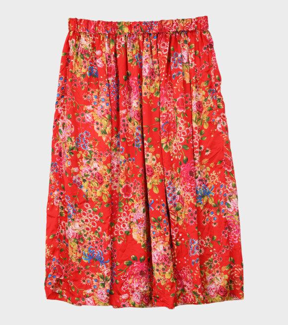 Comme des Garcons - Flower Skirt Red