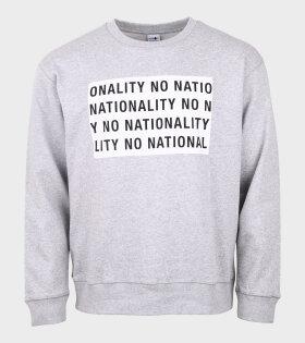 Jerome Print Sweatshirt Grey