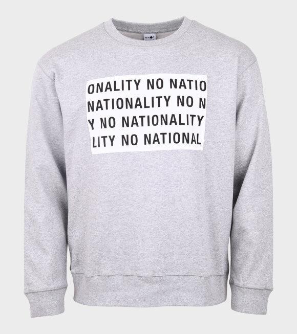 NN07 - Jerome Print Sweatshirt Grey