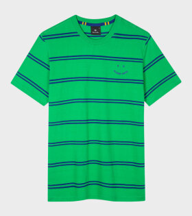 Paul Smith - PS Happy Striped T-shirt Green/Blue