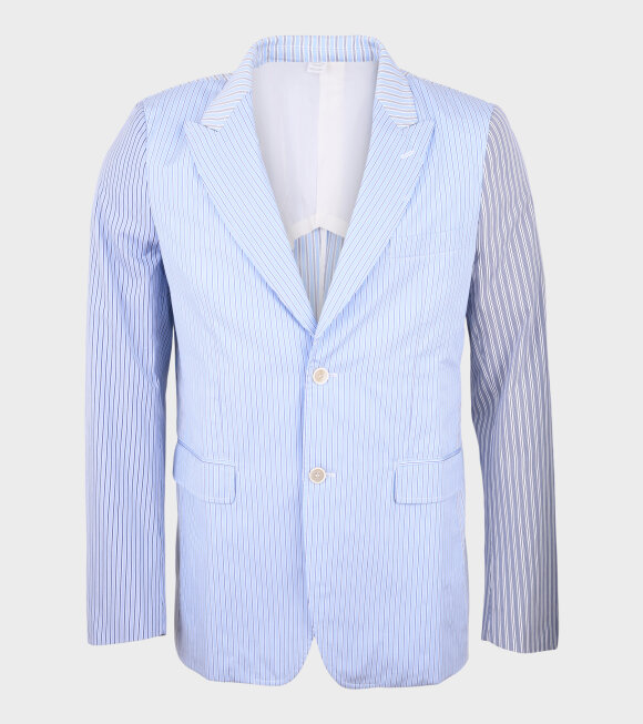 Comme des Garcons Shirt - Striped Blazer Blue/White