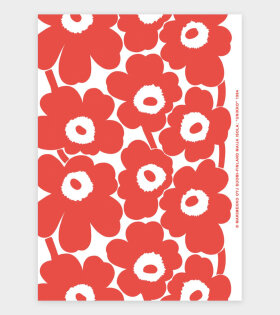 Unikko Art Poster Red/White