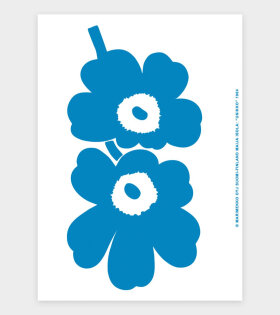 Unikko Art Poster Blue/White