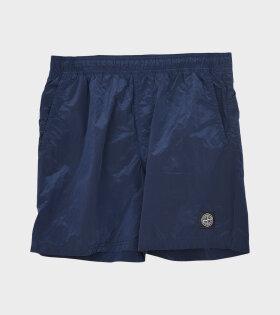 Stone Island - Logo Nylon Swim Shorts Navy