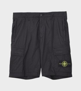 Stone Island - Logo Patch Shorts Black