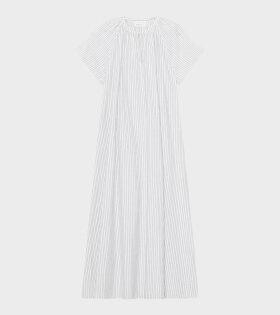 Skall Studio - Pisa Dress White/Grey Stripe