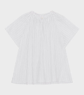 Skall Studio - Pisa Tee White/Grey Stripe