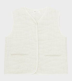 Skall Studio - Emma Vest White/Beige Check