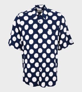 AMI - Dots SS Shirt Navy