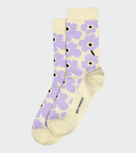 Hieta Unikko Socks Purple/Beige