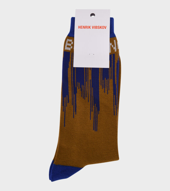 Henrik Vibskov - Dripping Love Socks Brown/Blue