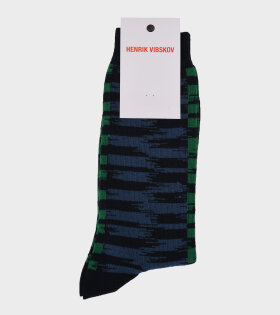 Ikat Socks Navy/Blue/Green