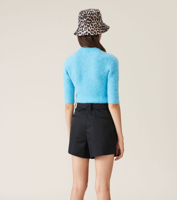Ganni - Recycled Tech Fabric Shorts Black