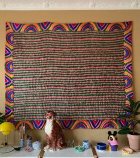 Helmstedt Silk Quilted Blanket Kaleidoscope Turqouis - dr. Adams