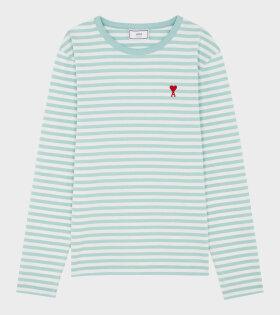 AMI - Ami de Coeur L/S T-shirt Green/White