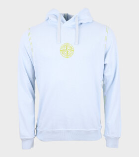 Embroidered Compas Hoodie Sky Blue