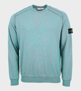Patch Sweatshirt Melange Green