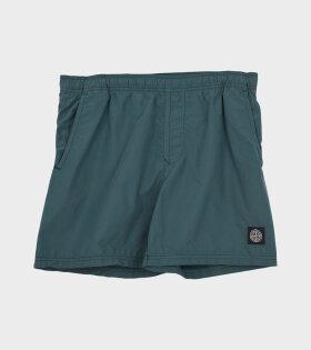 Stone Island - Logo Swim Shorts Green