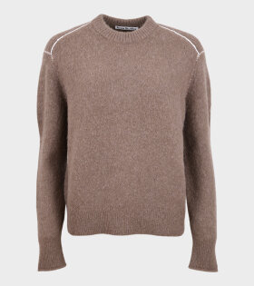 Acne Studios - Kalinka Fluffy Alpaca Knit Brown