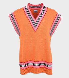 Burberry - Elsa Knit Vest Deep Orange